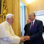letter to the pope regarding the PM's visit