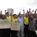 protest against the peaceful assembly bill