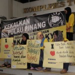 'rare' pro-pakatan rally in penang