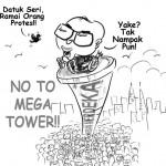mega demonstration against the warisan tower!