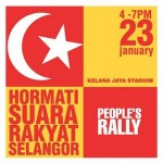 public rally: respect the voice of the public in selangor