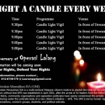 light a candle every week